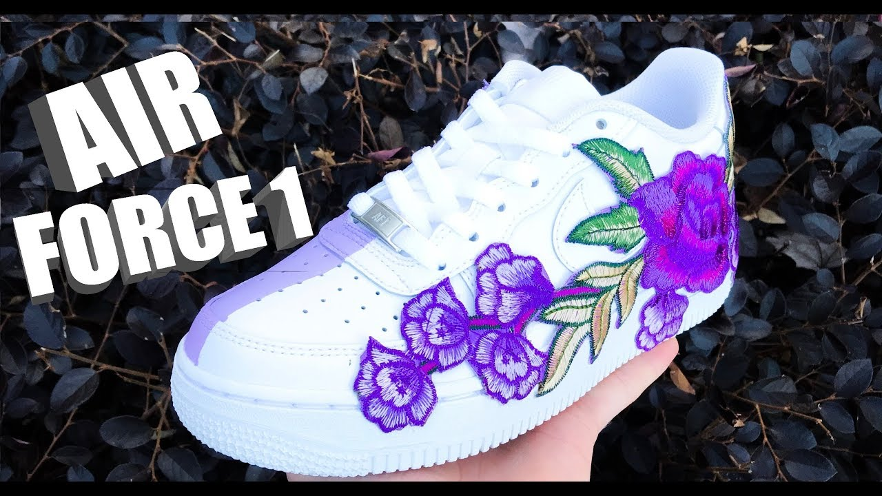 c1b7d13b0a4 FLORAL AIR FORCE 1 CUSTOM! - Jordan Vincent - YouTube