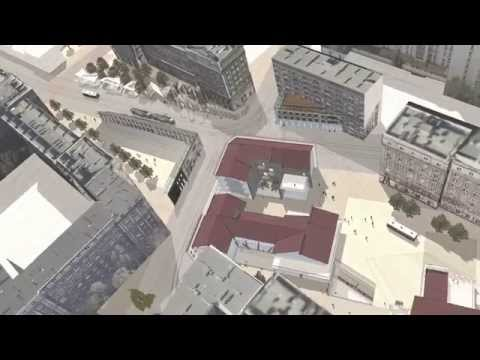 "Warsaw Urban Renewal Project - ""Nalewki - Andersa Square"" - General View"