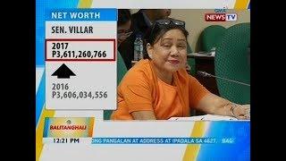 BT: Sen. Cynthia Villar, pinakamayaman pa ring senador sa bansa