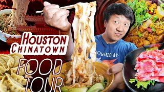 Houston Chinatown FOOD TOUR! MUST TRY NOODLES \u0026 Something VERY CREEPY Just Happened!