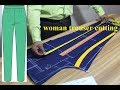 DIY  Woman trouser cutting |[DETAILED] How to Cutting Pant Trousers | Ladies pant cutting