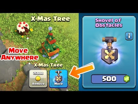 How To Use  Shovel Of Obstacles In Clash Of Clans | New Magic Item |