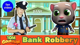 Catch the Robber| Talking Tom Gold Run Gameplay IN REAL LIFE| Kid Skit