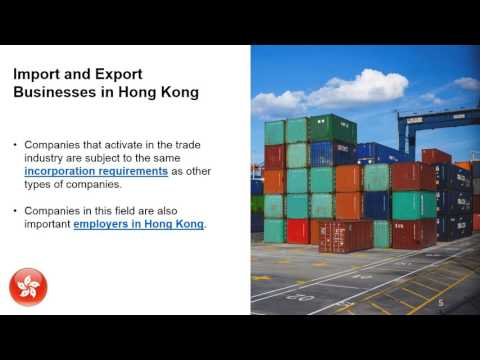 Imports and Exports in Hong Kong
