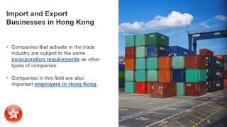 Imports and Exports in Hong Kong