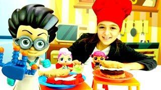 Герои в масках открыли ресторан! Мультик с ЛОЛ и игрушками
