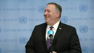 US on Iran Sanctions - Security Council Media Stakeout (20 August 2020) Informal comments to the media by Michael R. Pompeo, Secretary of State of the United States of America on the situation in Iran. United States Secretary of ...