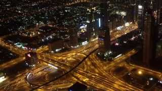 Night in Dubai from Burj Khalifa