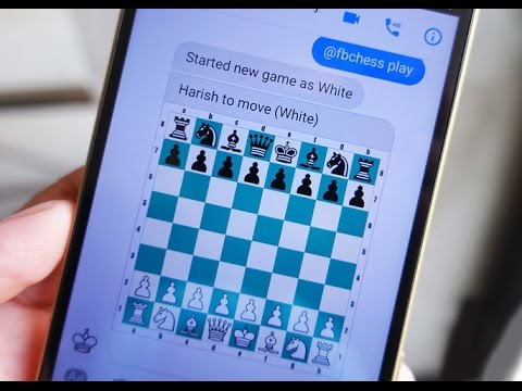 Play chess within Facebook Messenger ( Hidden feature )