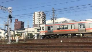 【鉄道動画】今伊勢~一宮にて 東海道本線313系通過シーン