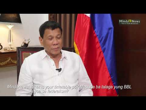 BBL will be passed ahead of shift to federalism – Duterte