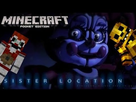 MCPE 1.0 FNAF SISTER LOCATION TEXTURE PACK