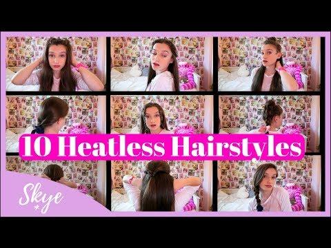 10 Heatless Hairstyles 2018