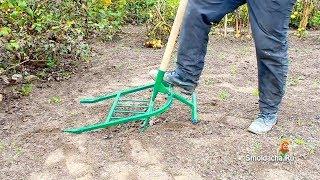 Проверка чудо лопаты на твердой почве