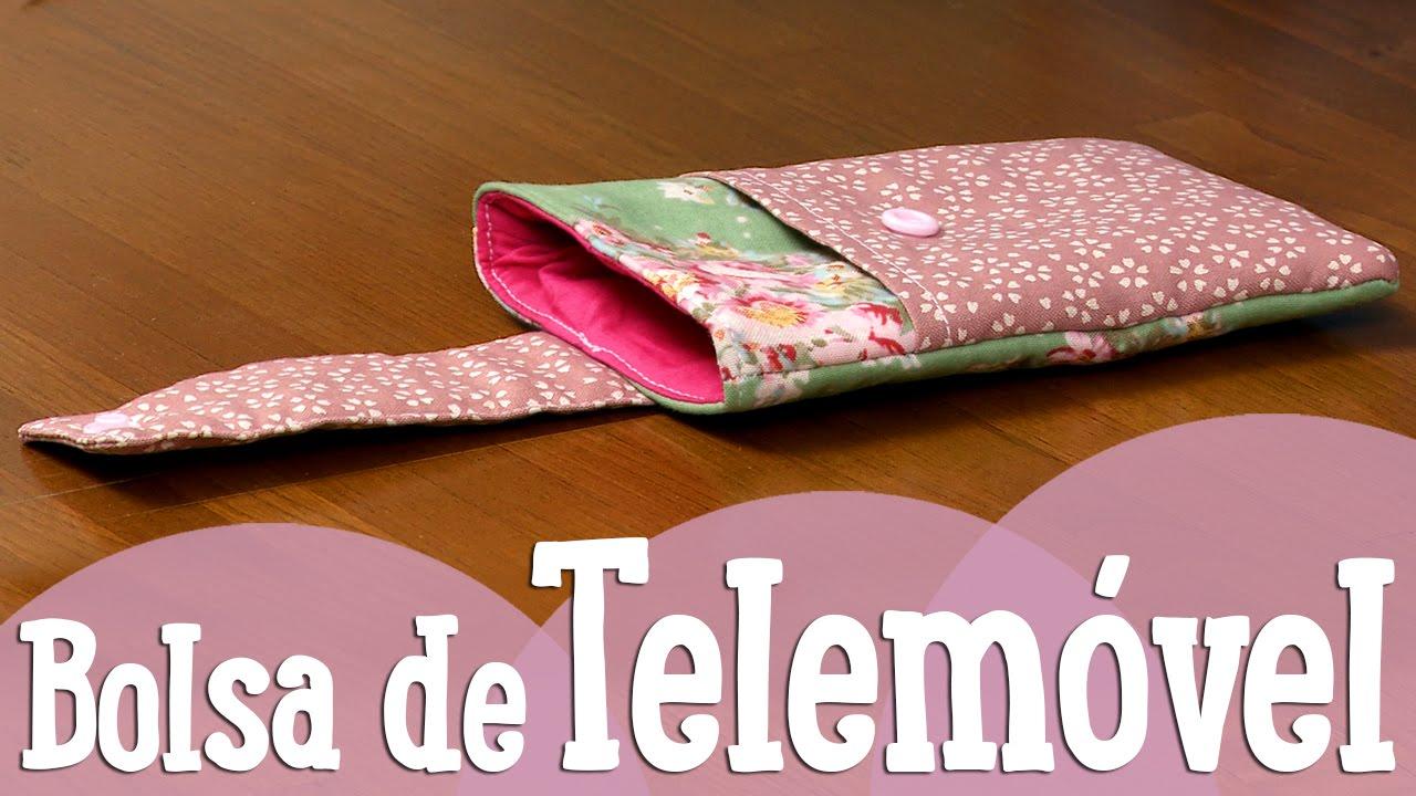 Bolsa Em Tecido Para Telemovel : Bolsa de telem?vel costuracomigo