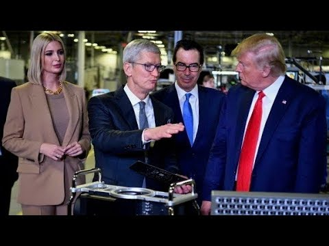 Trump and Tim Cook tour Apple plant in Austin, Texas