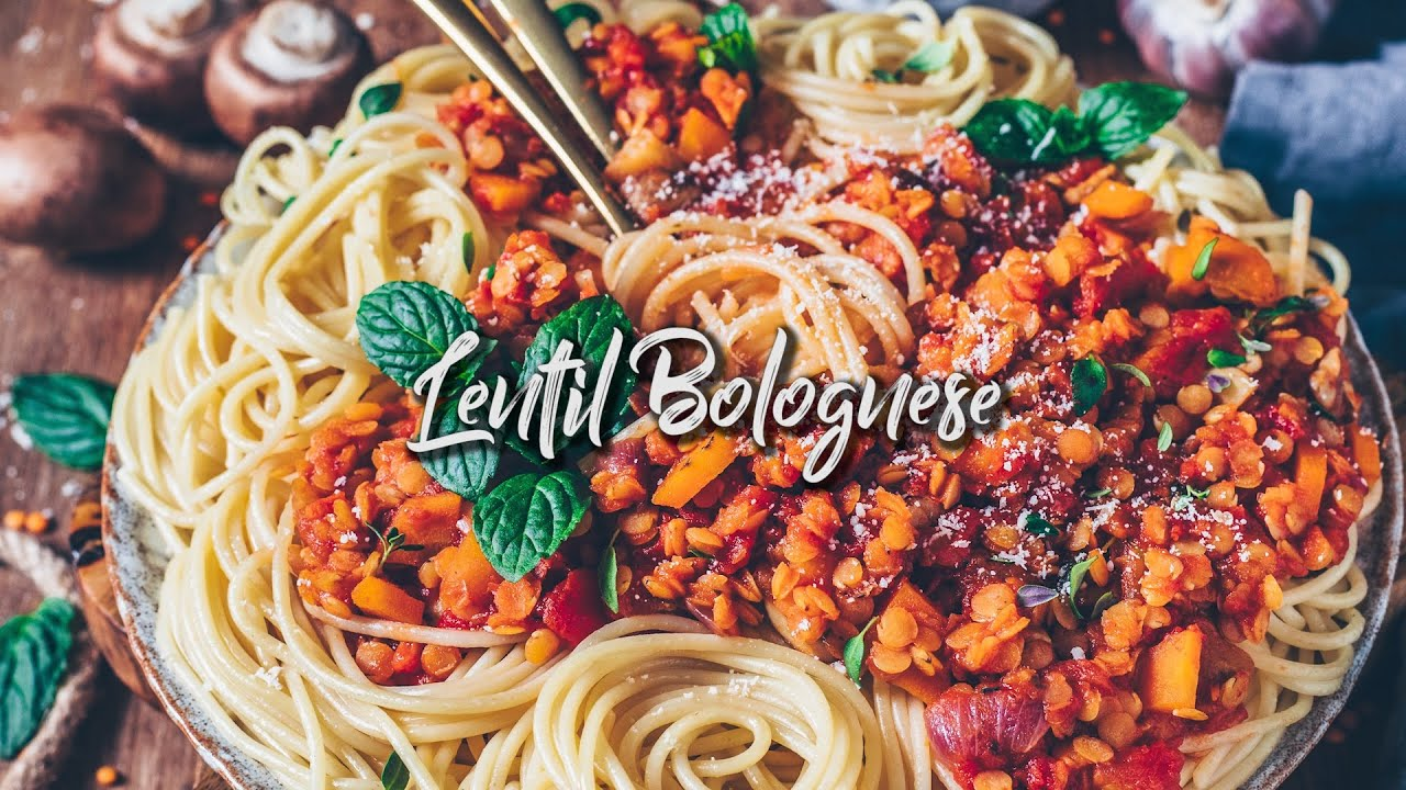Lentil Bolognese with Spaghetti *The BEST Vegan Recipe* so easy but so delicious & healthy!