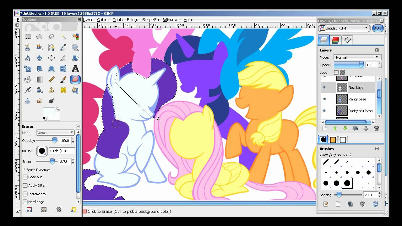 Uncategorized My Little Pony Drawing Games my little pony speed drawing with gimp paths tool youtube