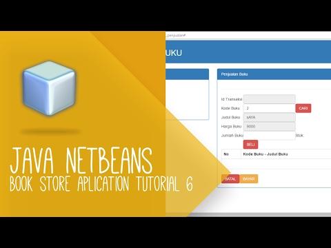 Java netbeans tutorial - Aplikasi Toko Buku (CRUD form buku)
