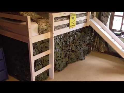 Army Bedroom Fire Retardant Camouflage Netting