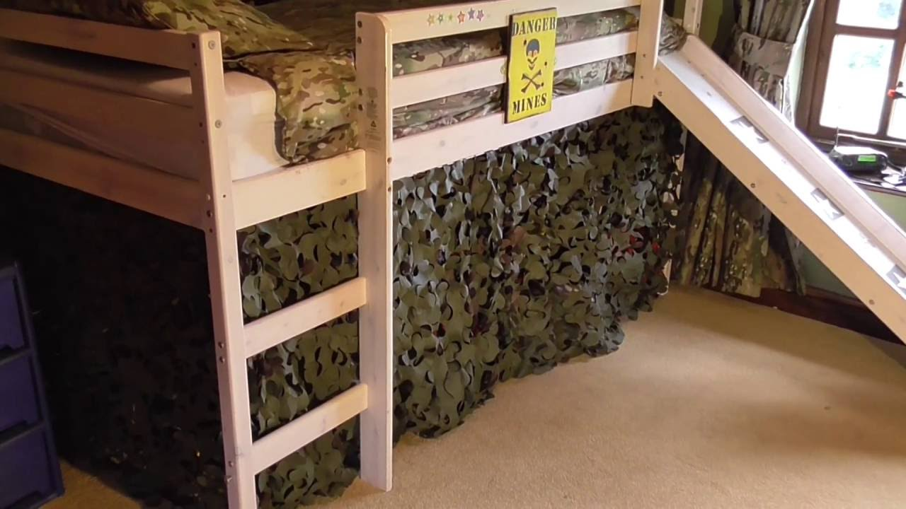 Charming Army Bedroom Fire Retardant Camouflage Netting