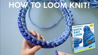 How To Loom Knit A Hat With The Quick Knit Loom For Hat Not Hate