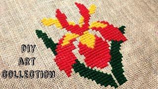 Beautiful and elegant flower ason design/বড়ো ফুলের নকশা আসন সেলাই/ আসন সেলাই ডিজাইন/ason design new