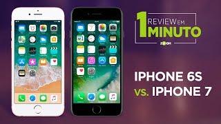iPhone 6S vs iPhone 7 - Principais Diferenças | REVIEW EM 1 MINUTO - ZOOM