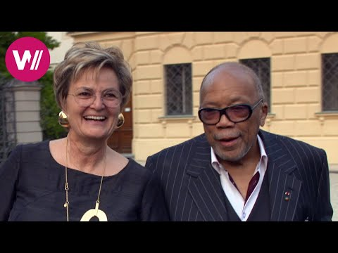 Quincy Jones & Placido Domingo in St. Emmeram Castle  Cuisine Royale