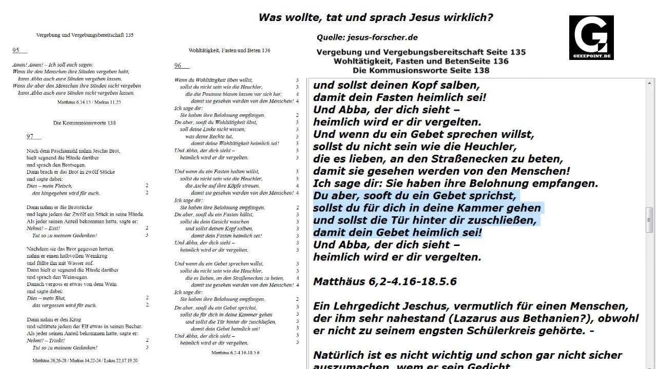 Vergebung Kommusionsworte Wohltätigkeit Fasten Und Beten Ab Seite 135