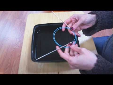 How To Easily Uncoil The Wire Of Your Circular Knitting Needles