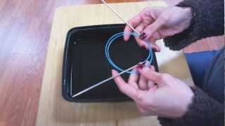 DROPS Knitting Tutorial: How to work a Basket pattern (in the round on circular needle).