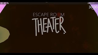 Roblox Escape Room Speedrun: Theatre Escape