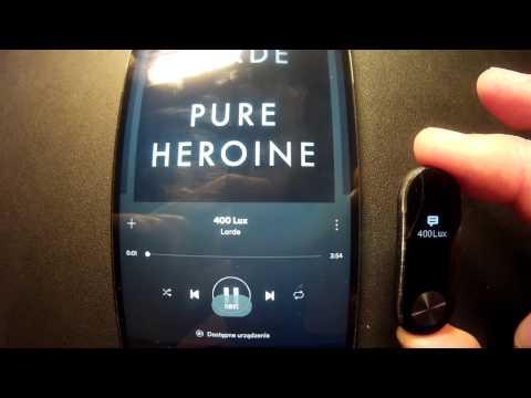 Xiaomi Mi Band 2 Music Control
