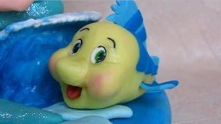 Download Video Fondant Flounder, Ariel best friend cake topper - Flounder il pesce di Ariel in pasta di zucchero MP3 3GP MP4