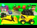 CAT Construction Pull Back Toys Bulldozer Dump Truck construction mighty machines in action