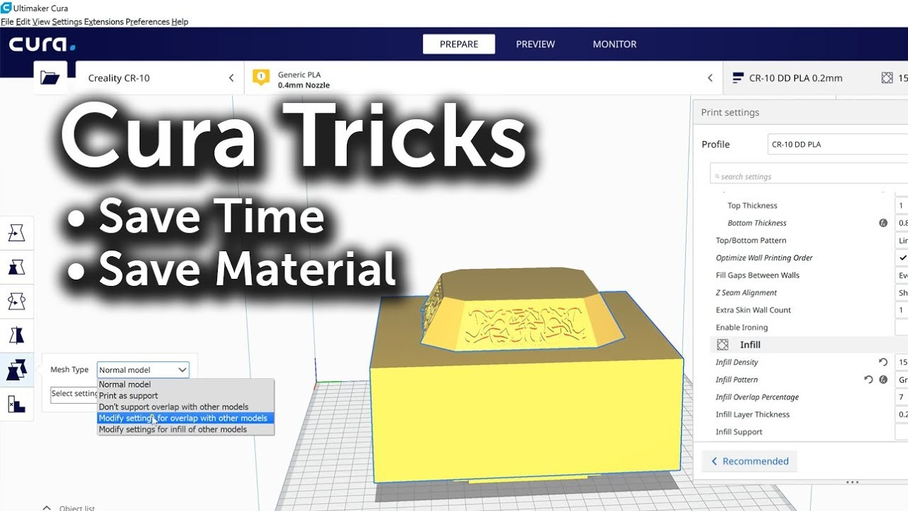 Cura Tricks for 3D Printing