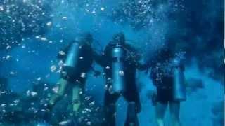 Экскурсия на дайвинг в Египте(Дайвинг совсем для новичков. Очень заботятся о безопасности - под водой держат туристов за руки, что бы не..., 2012-09-23T12:33:01.000Z)