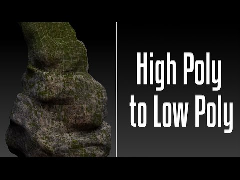 Complete High Poly to Low Poly Workflow - Zbrush Maya