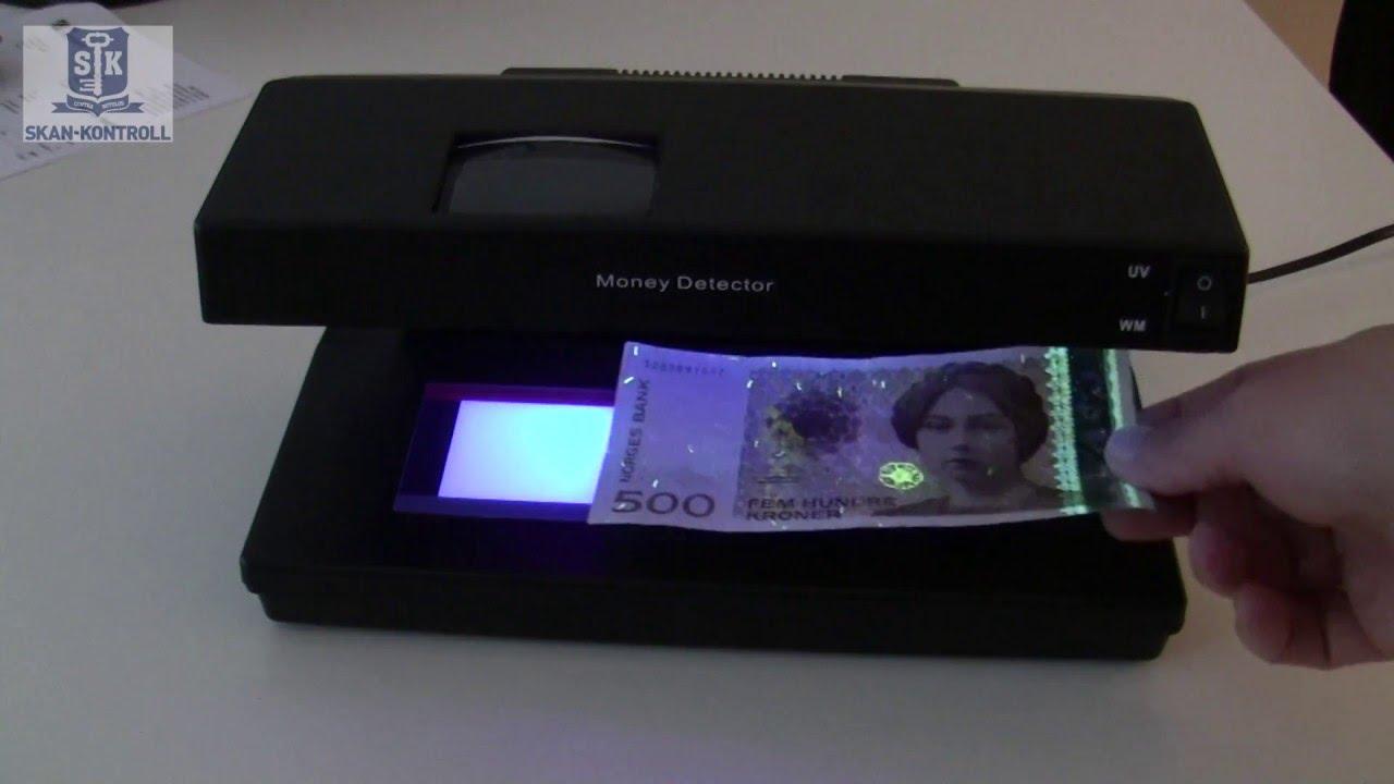 UV lampe mot falske sedler Skan kontrollSkan kontroll
