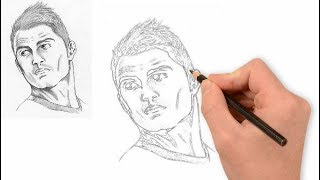 How to Draw Cristiano Ronaldo | Cristiano Ronaldo Sketch