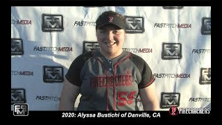2020 Alyssa Bustichi First and Third Base Softball Skills Video - Firecrackers