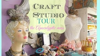 Craft room tour, the apocalyptic mess!