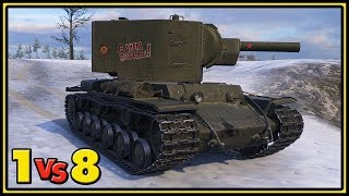 KV-2 - 1 vs 8 - World of Tanks Gameplay