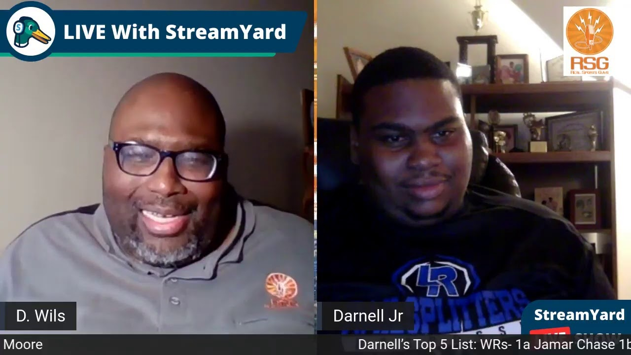 RSG LIVE: DARNELL's TOP 5 NFL DRAFT LIST- OFFENSE