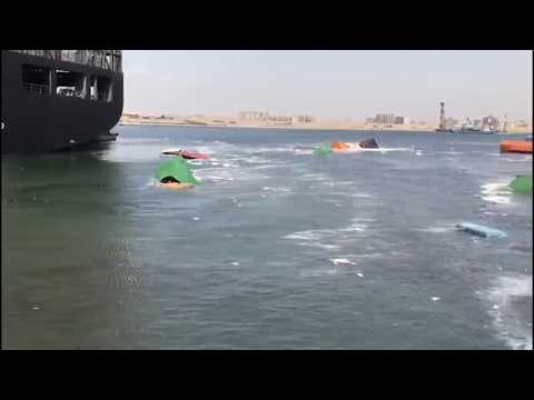 Collision of Two Container Ships at Karachi Port