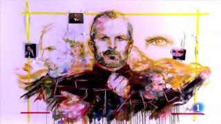 Jordi Machí en el  Programa TVE1 Navidad Miguel Bosé 2017 (timelapse retrato pintura))