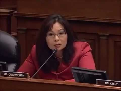 Rep. Tammy Duckworth takes apart IRS contractor for