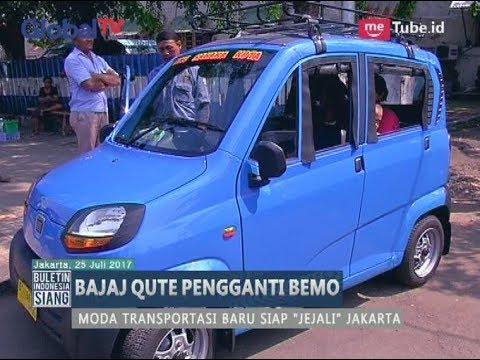 Unik!! Jakarta Dihiasi Transportasi Baru yang Bernama Bajaj Qute, Penasaran Kan? - BIS 26/07