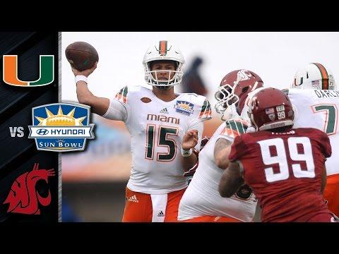Miami vs. Washington State Football Highlights (2015)